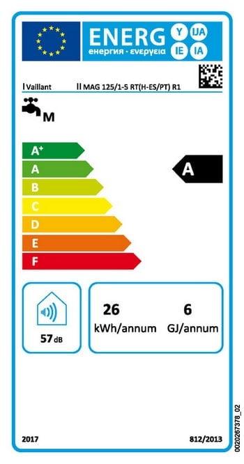 Turbomag plus bajo NOx etiqueta energética