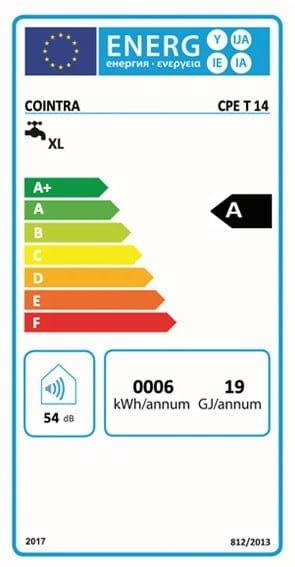 Etiqueta Energética Calentador Cointra CPE T 14