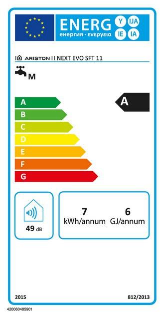 Etiqueta energética Next Evo